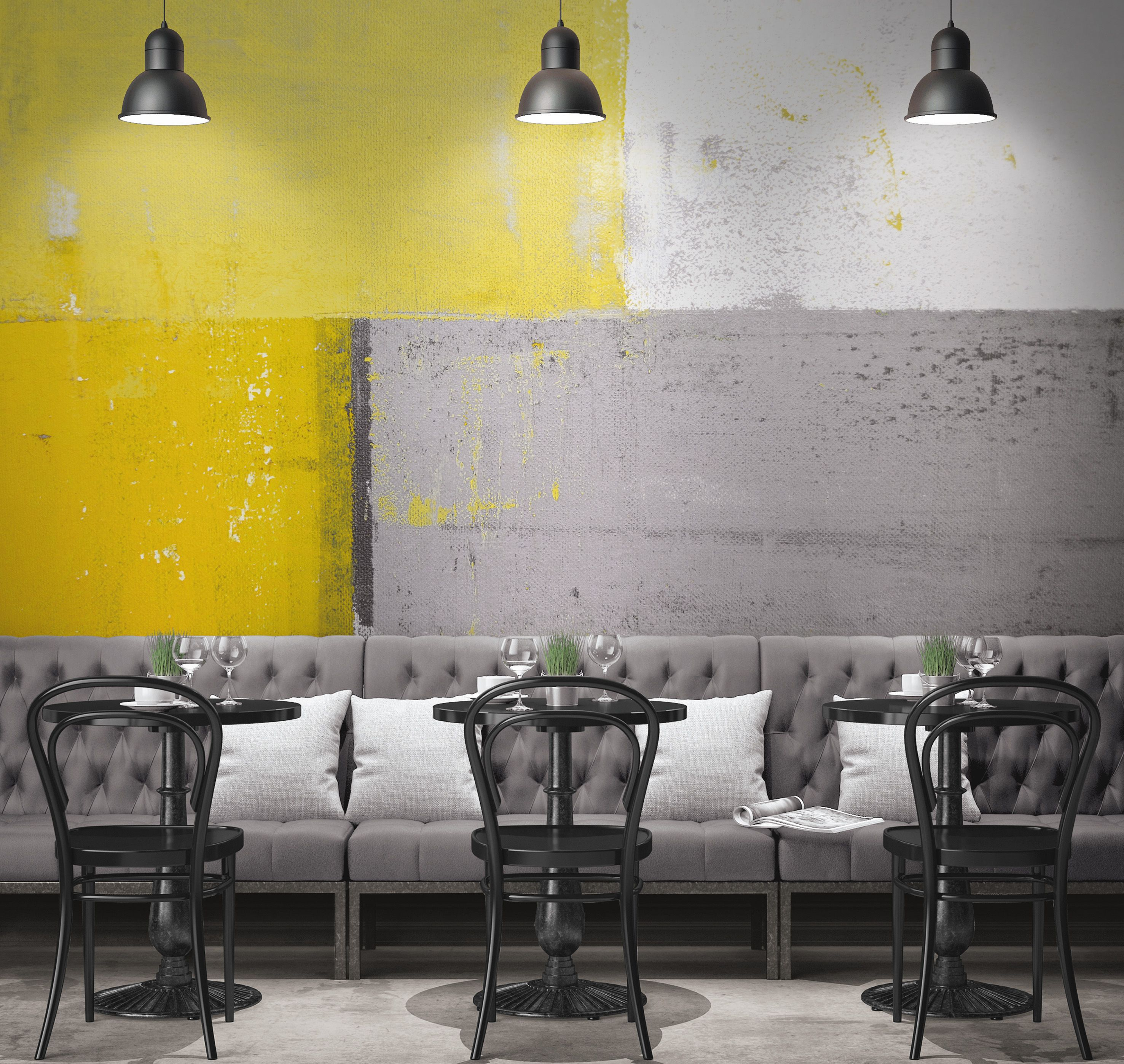 So Wall 2 Casadeco X Mal Fab Yellow Color Schemeswallpapercanvaspaint