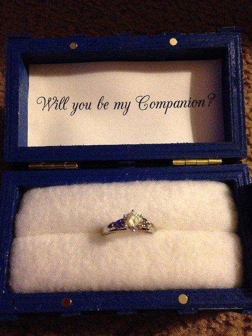 Tardis Engagement Ring Tardis Ring Geeky Engagement Rings Unusual Wedding Rings