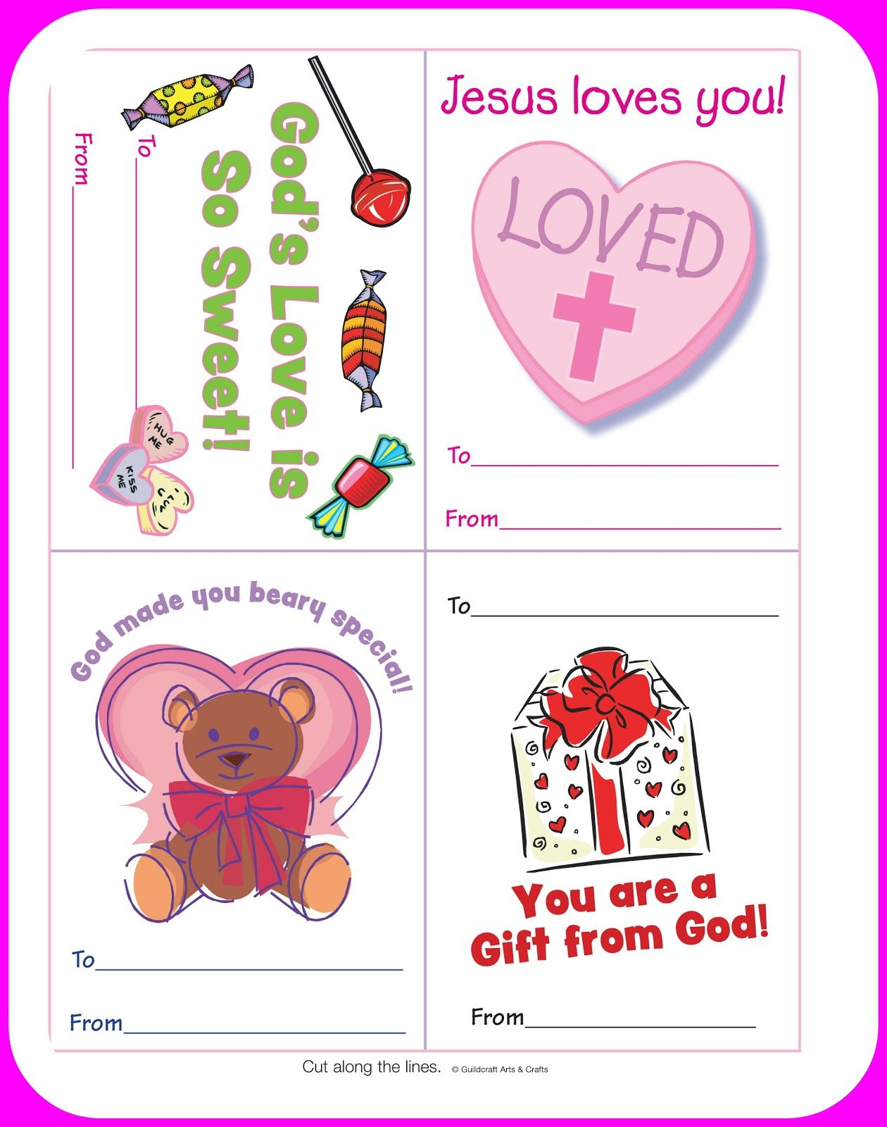 Free Christian Valentine S Printables For Kids Courtesy