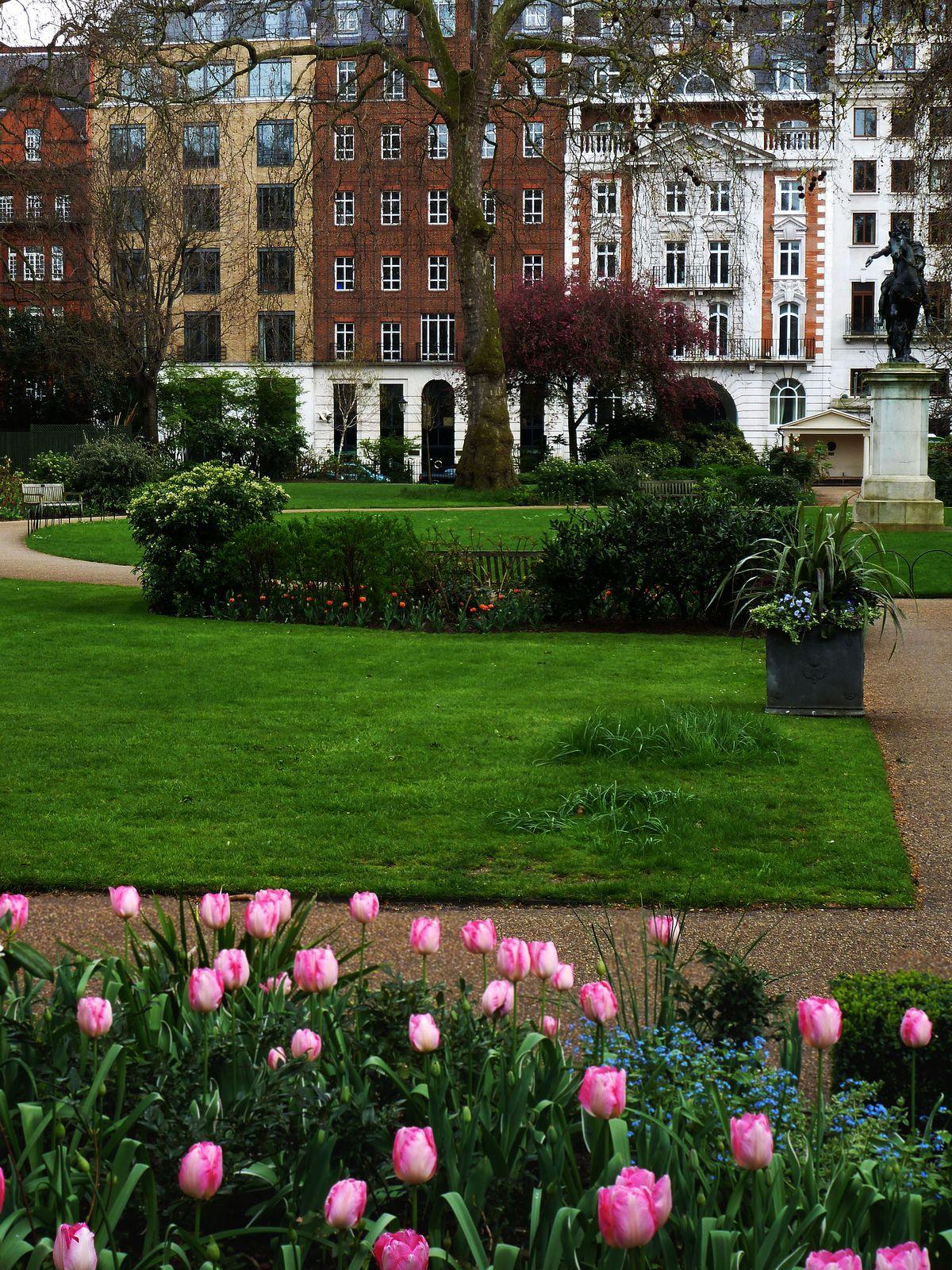 St James's Square in London, May.   http://enchantedengland.tumblr.com/image/55219334245