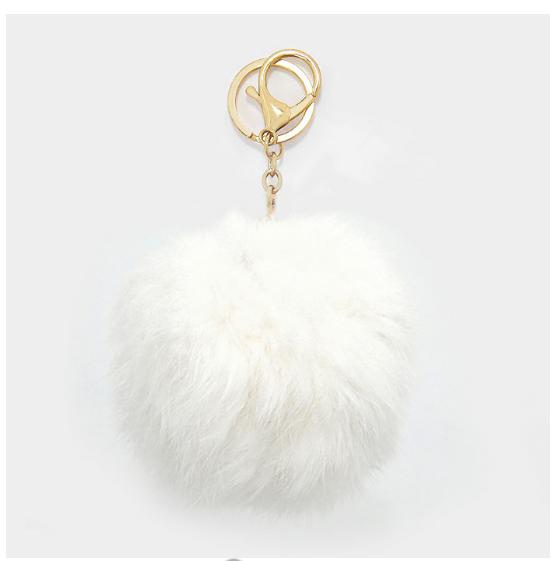 Rabbit Fur Pom Pom Keychain Pom Pom Keychain Fur Pom Pom Keychain Fur Pom Pom