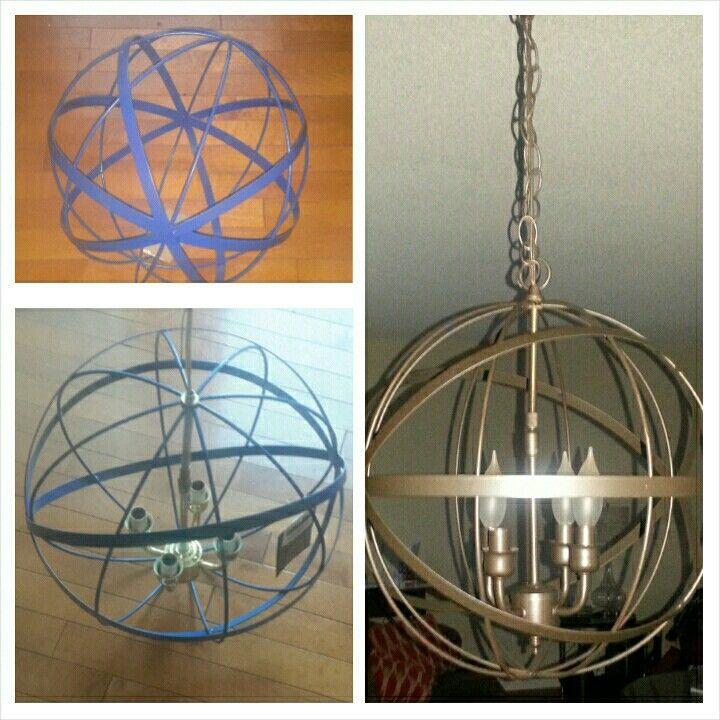 DIY orbit chandelier for less than $30...orbit ball $16 (TJ maxx ...
