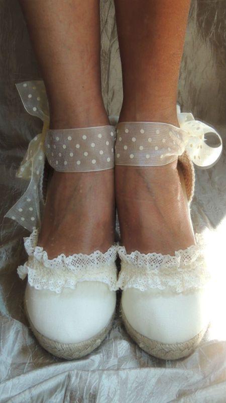 mejor servicio b34d0 af8c0 Alpargatas Novia-Prescilla Marbella | Shoes Mujer ...
