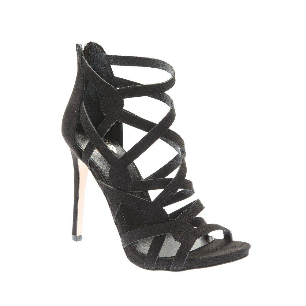 b916a5178db Exe γυναικείο πέδιλο από συνθετικό καστόρι σε μαύρο χρώμα.Ύψος 11 εκ.  Παπούτσια >