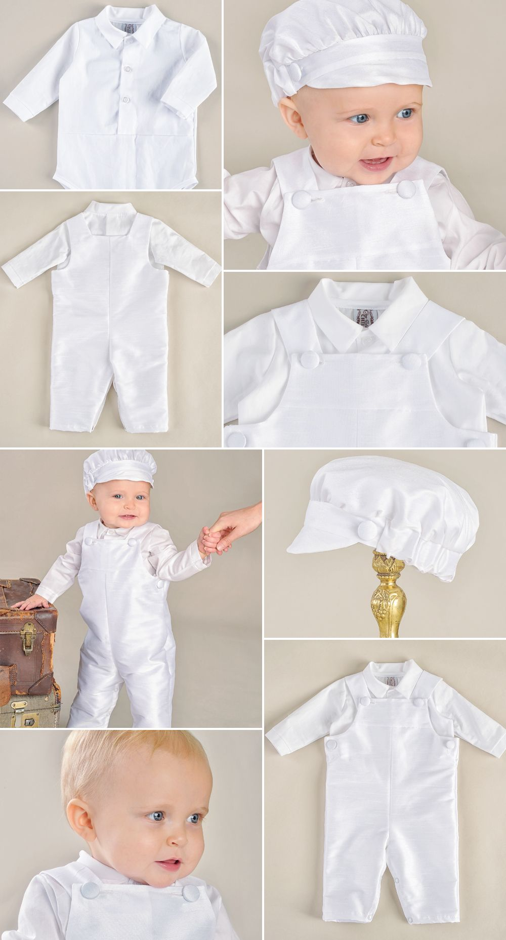 2ff4c51bb Rompers are perfect for Spring and our Jonathan is adorable with it's  matching hat! https