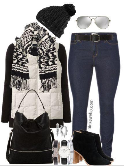Photo of Plus Size Outfit Idea – Plus Size White Vest – 3 Ways – Alexa Webb