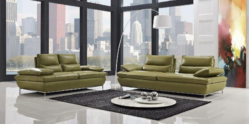 Modern Green Leather Sofa Set Modern Leather Sofa Best Leather Sofa Green Leather Sofa
