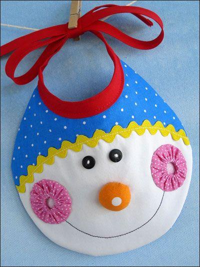 Elf, Snowman & Reindeer Bibs Sewing Pattern Download from e ...