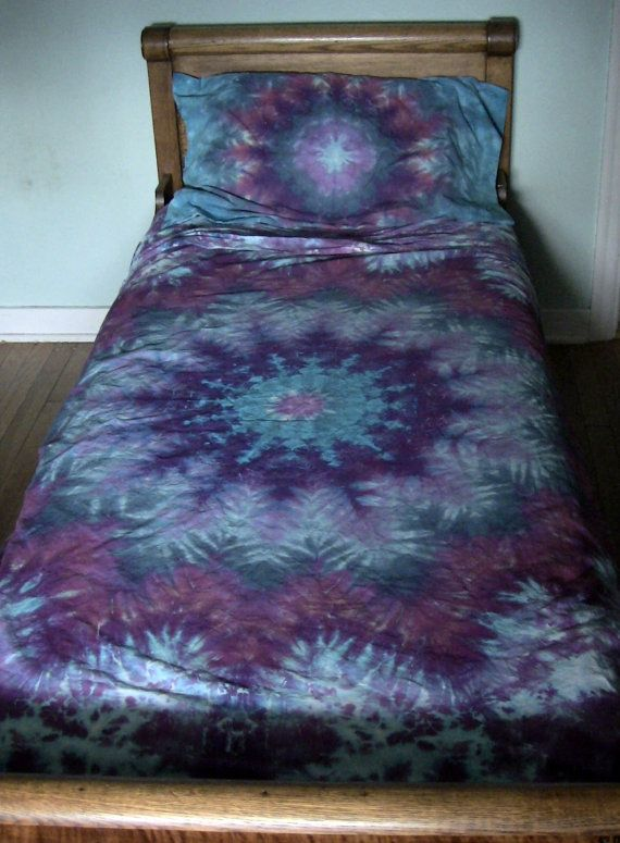 ad7b1051691667 Twin Size Tie Dye Mandala Sheet Set 418 by TyeDyeBills on Etsy