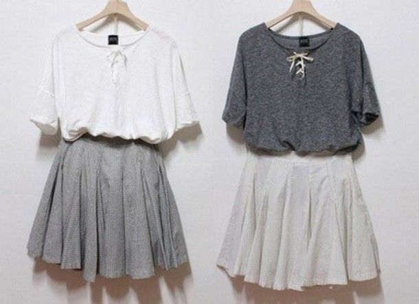 Skirt | Gray skirt, Skirts and Skirt tumblr