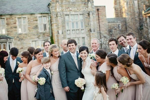 blush and white wedding bouquets
