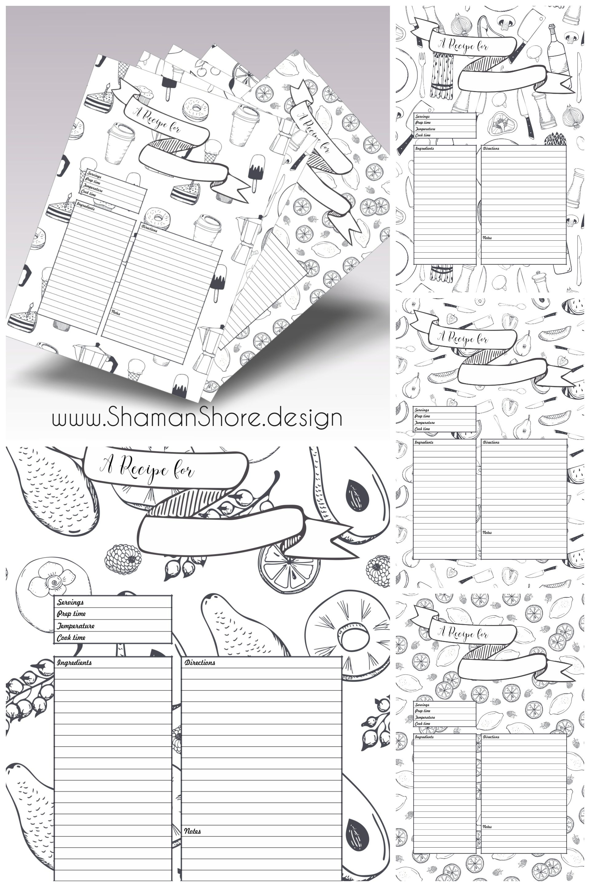 This is a graphic of Witty Happy Planner Recipe Printable