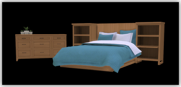 Sims 4 - Dover Bedroom Recolors