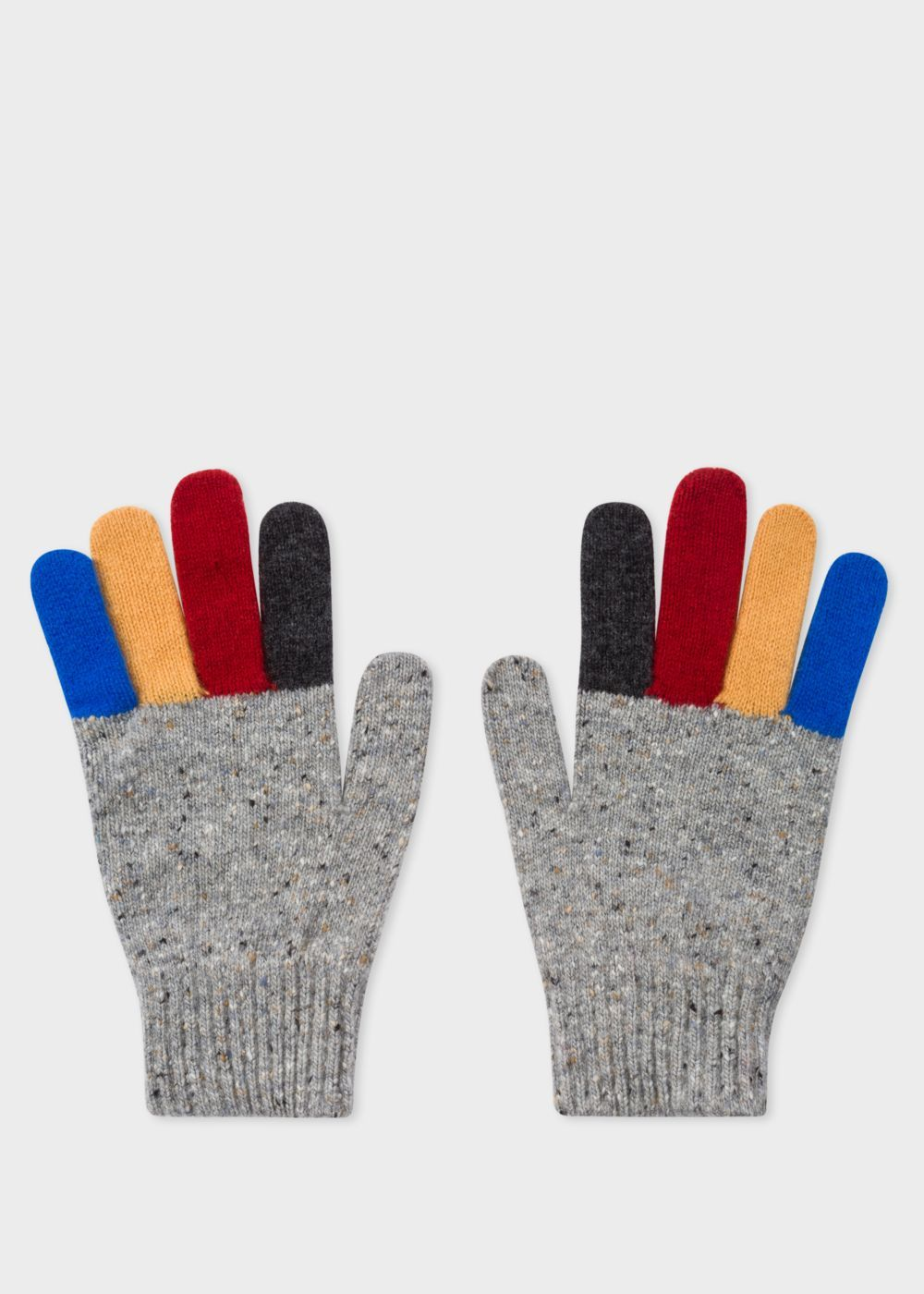 Men S Grey Donegal Stripe Wool Gloves Paul Smith 60 Eur Wool Gloves Gloves Knitted Gloves