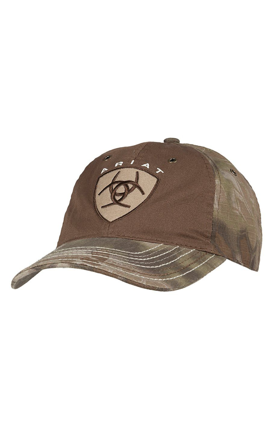 Ariat Brown   Kryptek Camo with Embroidered Logo Cap Gorras 2ad8b8fb609