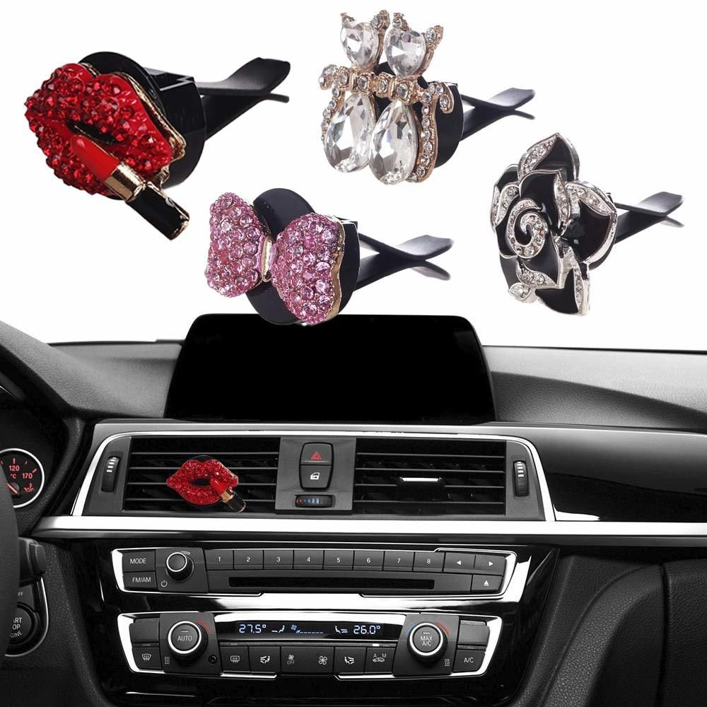 Air Vent Clip Charms W Air Freshener Pink Car Accessories Car Bling Bling Car Accessories
