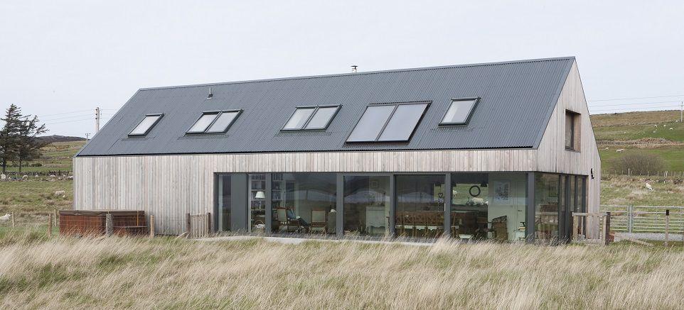weathered larch cladding Larch House Skye Scotland