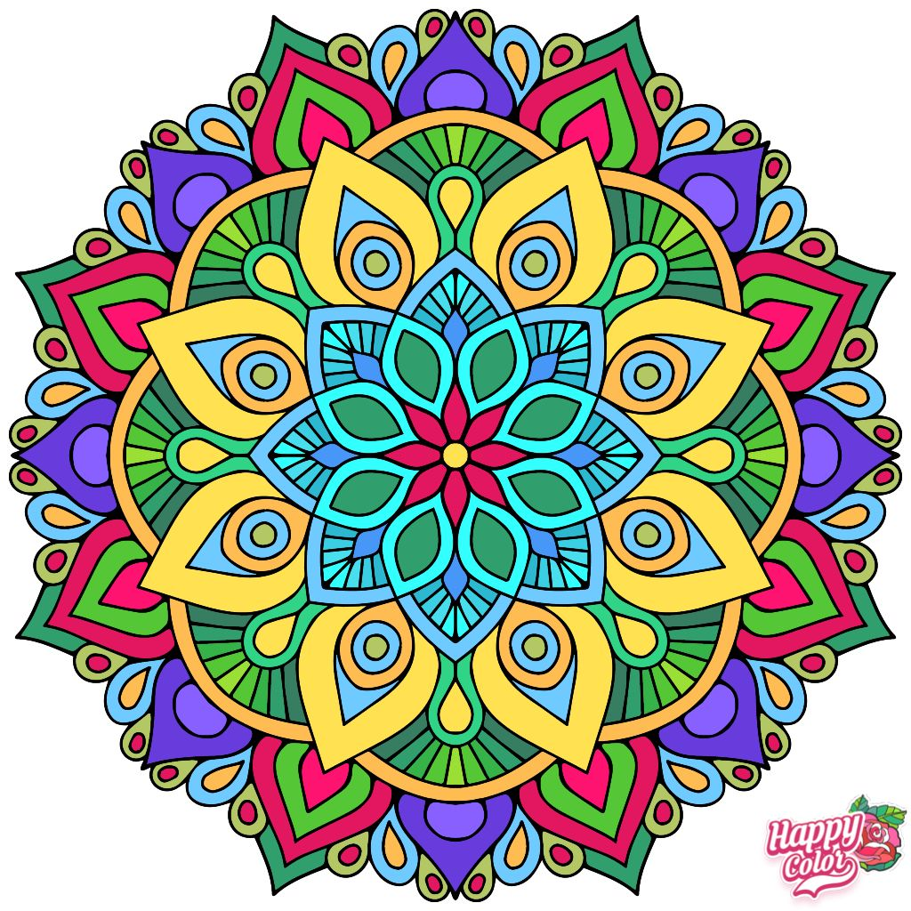 Bright Colored Mandala Millie Marotta Coloring Book Coloring Book App Mandala Coloring