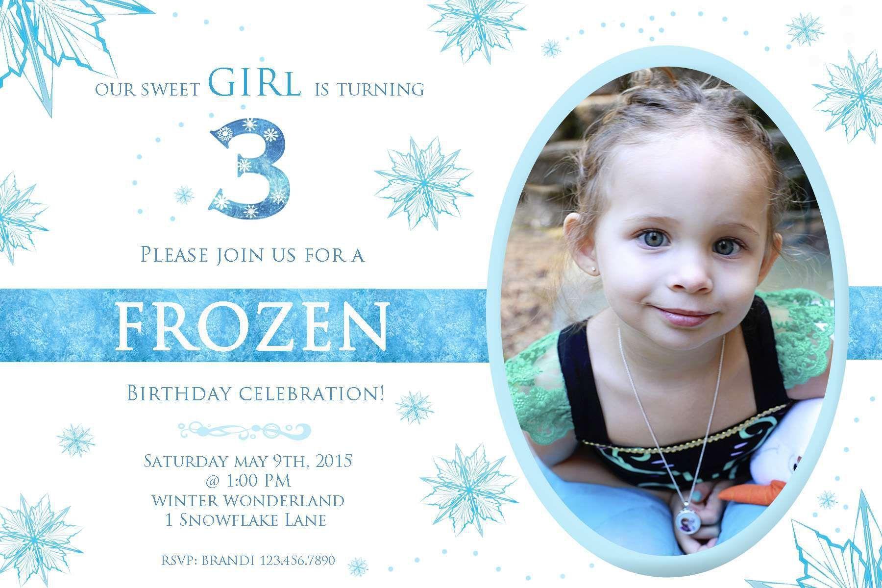 birthday invitation : frozen birthday invitations - Free Invitation ...
