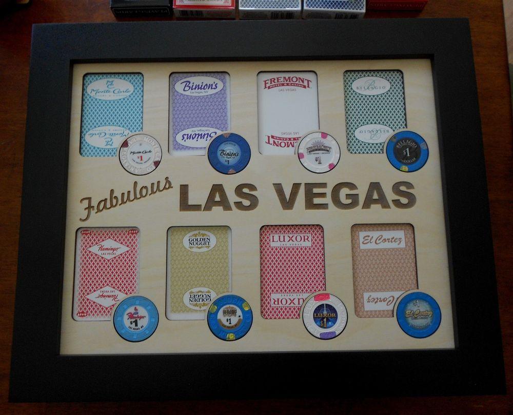 Las Vegas Poker Chip Display Frame Casino Chip Insert with
