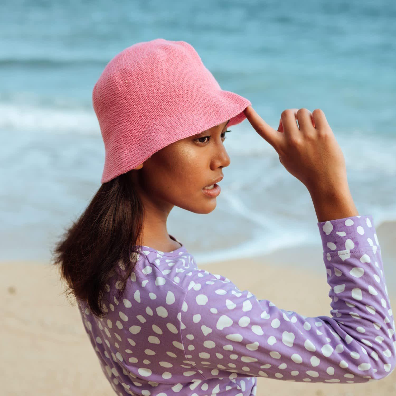 Florette Crochet Bucket Hat In Lime Green Brunna Co Wolf Badger In 2021 Crochet Bucket Hat Hat Fashion Trendy Hat