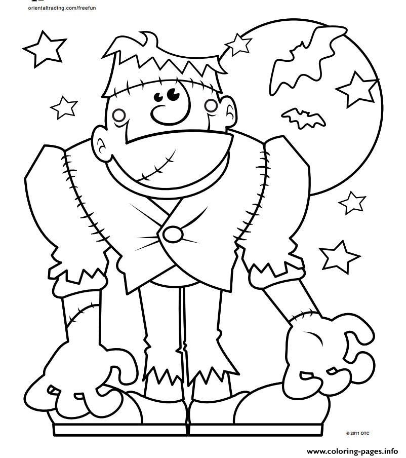 Print halloween monster coloring pages Halloween