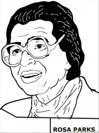 Rosa Parks Coloring Page Black History Rosa Parks