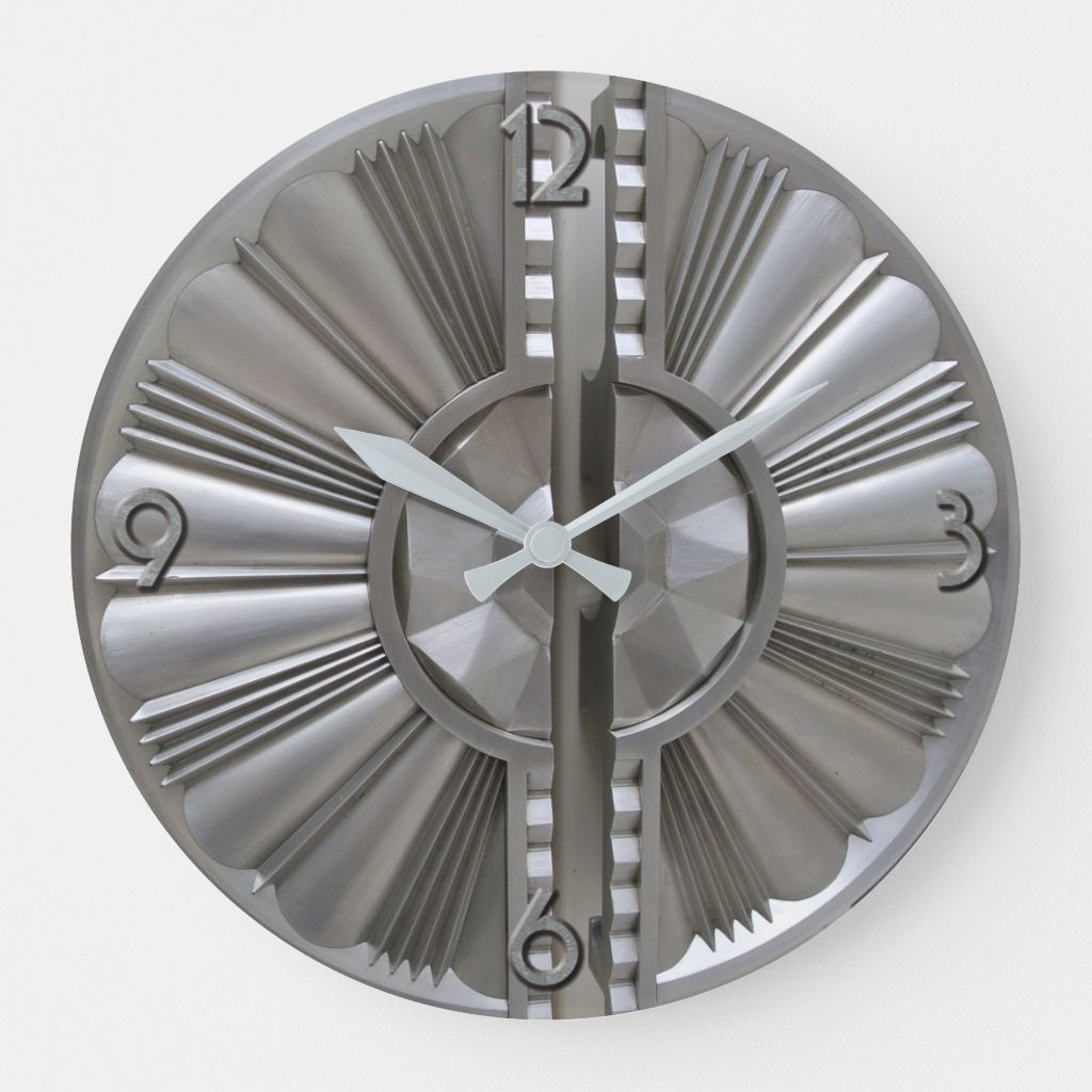 Art Deco Style Acrylic Wall Clock | Zazzle.com
