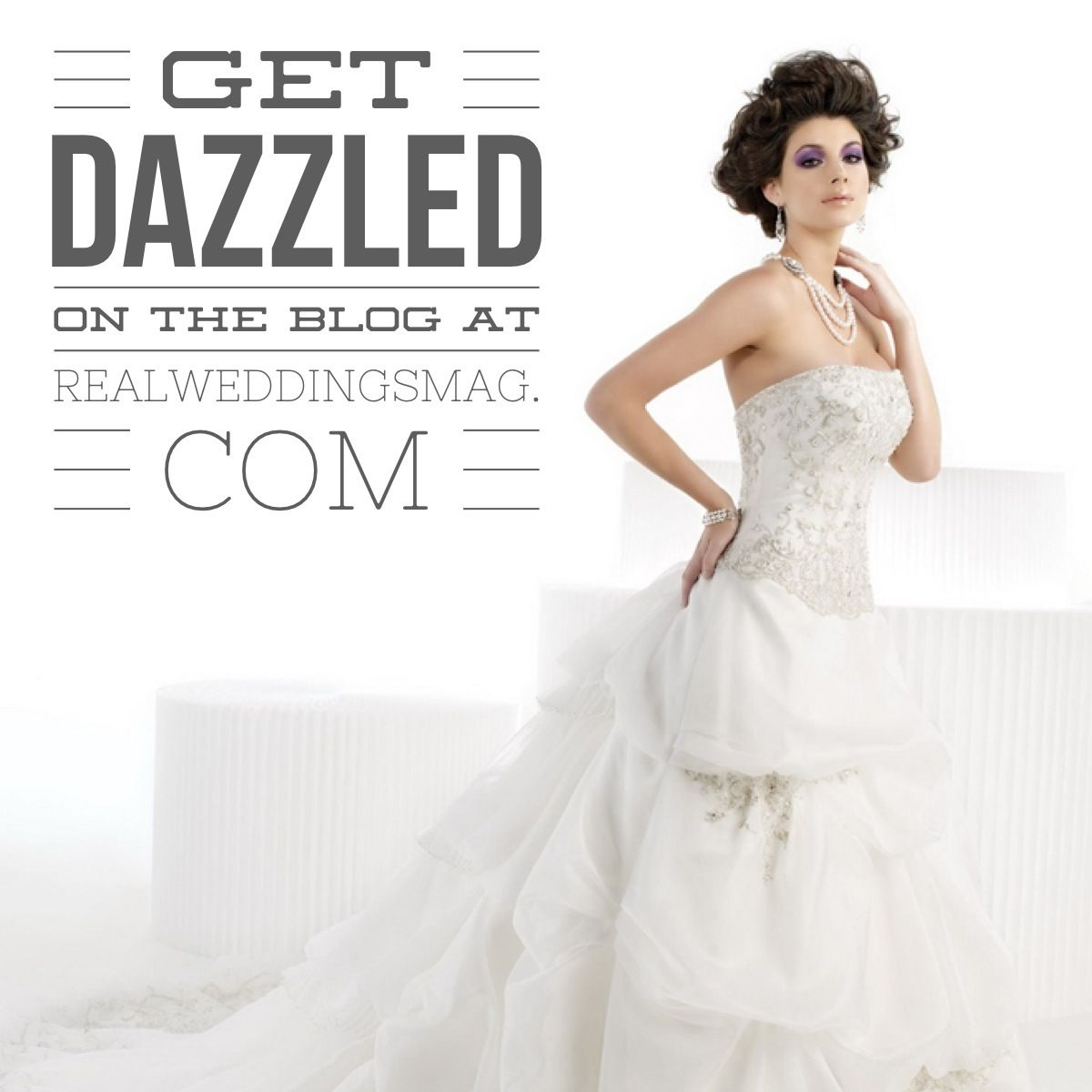 923b97b8b93c Real Weddings Dazzling Dresses: Holiday Spirit. Find these gowns and more  at Bellisima Bridal
