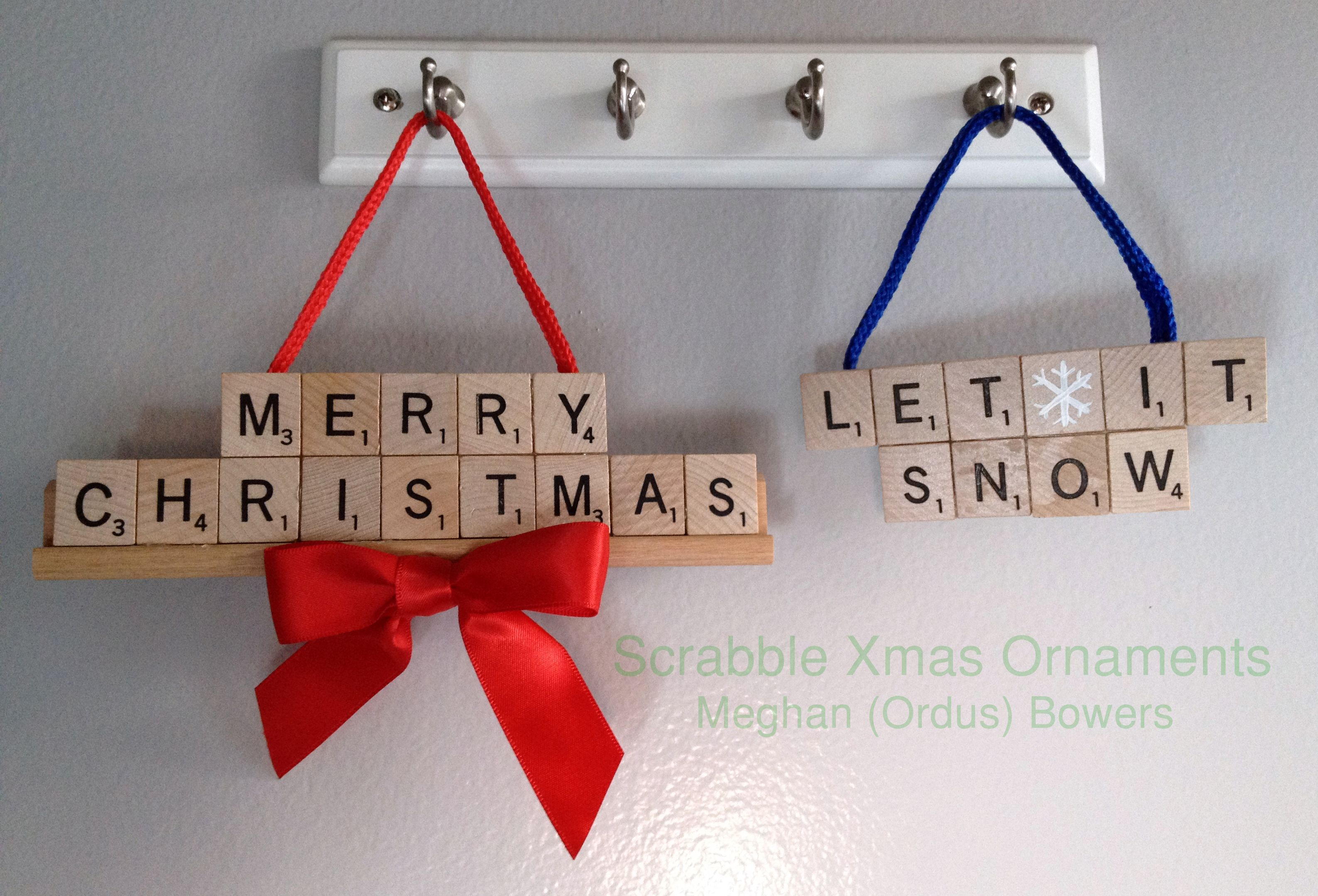 Scrabble Christmas Ornaments Meghanordus Diy