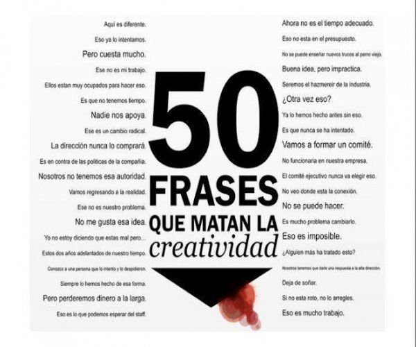 50 Frases Otimismo E Pessimismo: 50 Frases Que Matan La Creatividad
