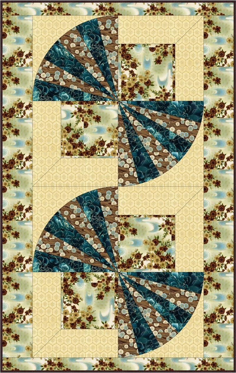 Oriental Fans Quilt Pattern BC-510 | Wall hangings, Oriental and Fans