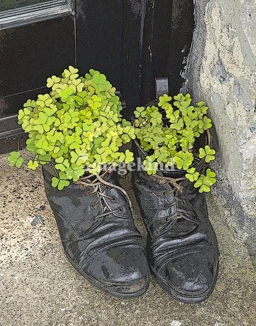 """""""Recycled Shoes"""" by Kim Manley Ort, Niagara-on-the-Lake, Ontario Canada // Taken outside of a store in Western Ireland."""