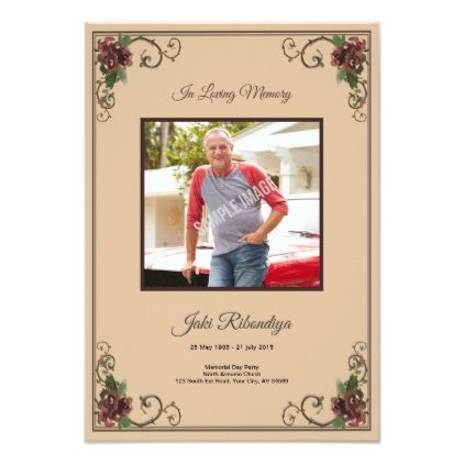 Funeral Program Card Template  Card Card And Invitation Ideas