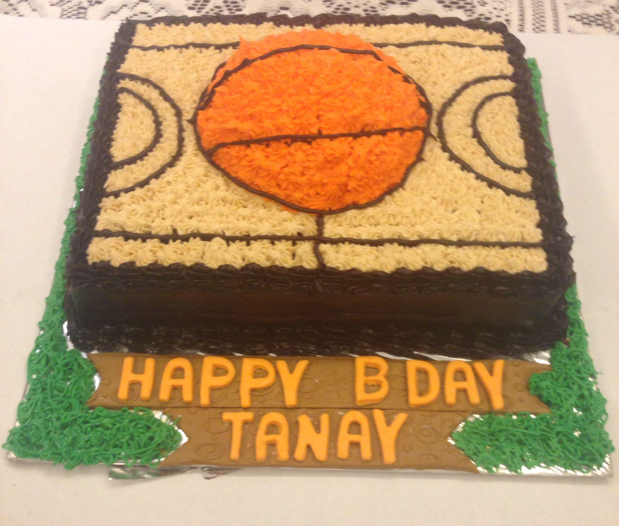 Cake for a basket ball fan!!!