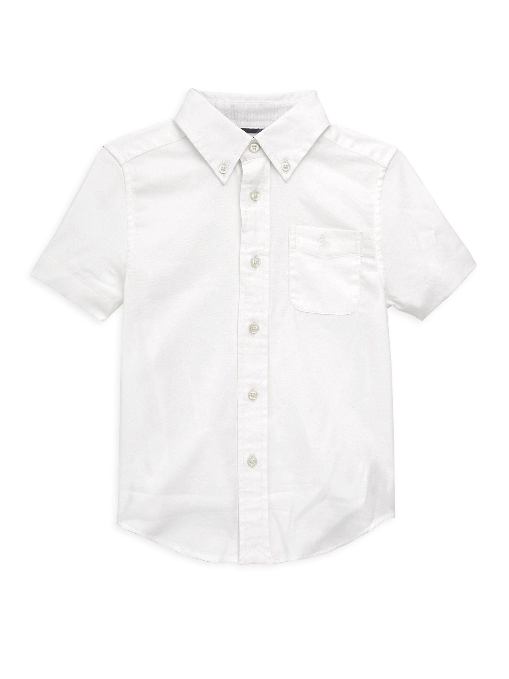 Ralph Lauren Toddler s, Little Boy s   Classic Stretch Collared Shirt -  White 4T 750016b1b4ca