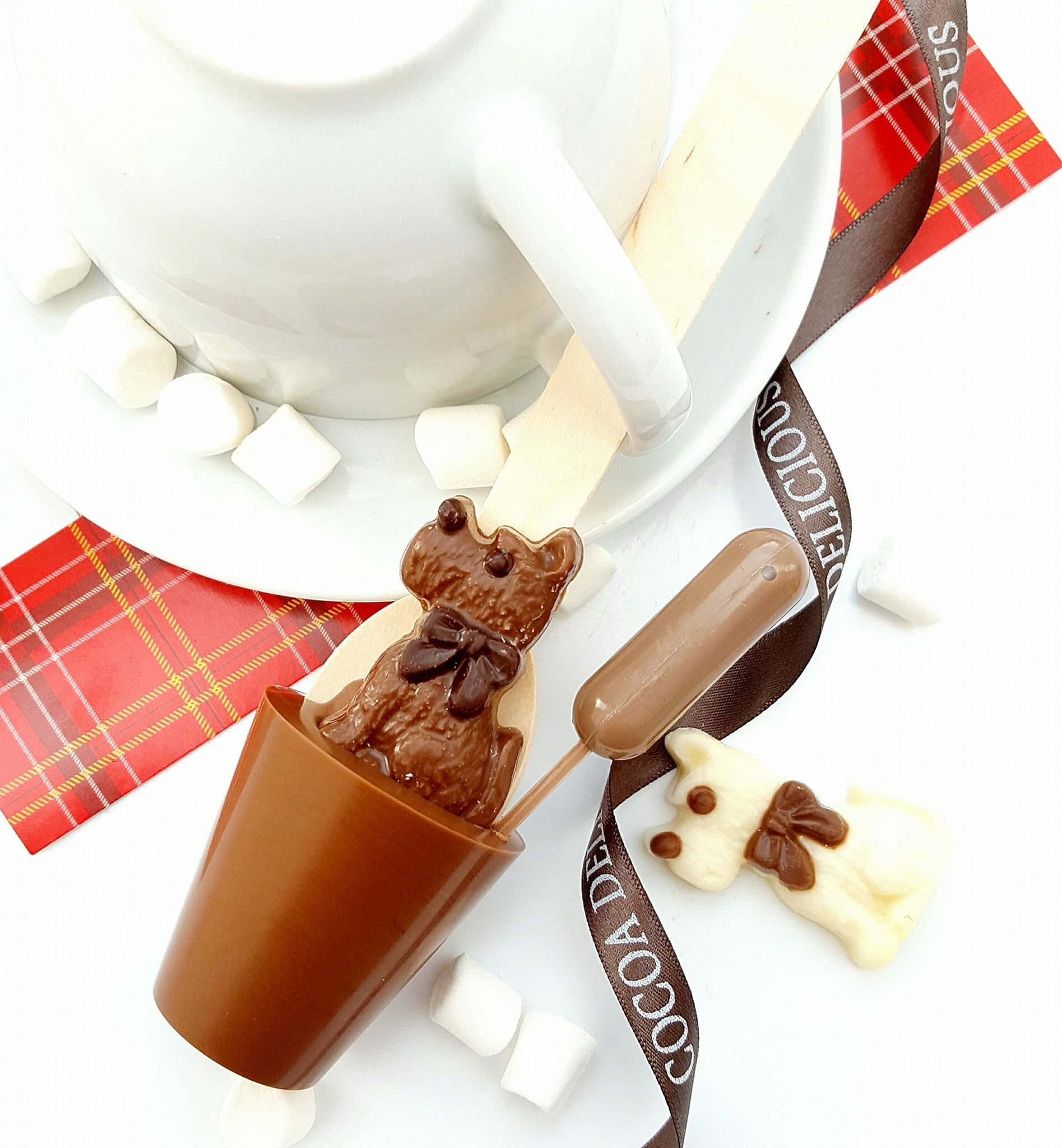 Christmas chocolate Irish cream Hot chocolate spoon / hot Chocolate ...