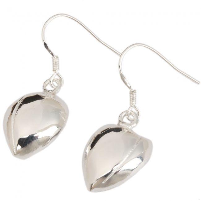 Stylish Surface Heart Style Dangle Earrings