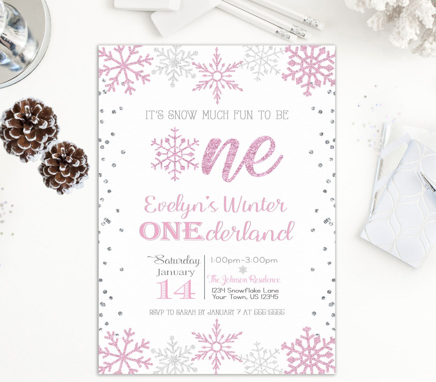 Winter ONEderland, Winter Wonderland, First Birthday, Birthday ...