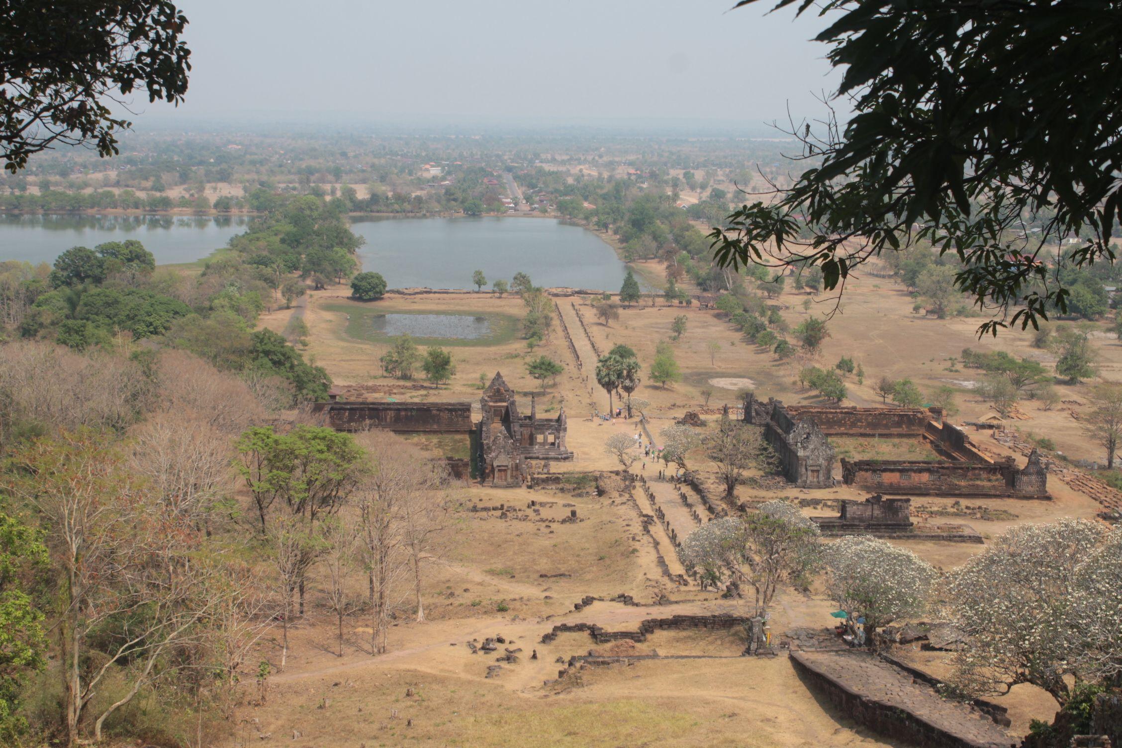 Vat Phu desde el mirador