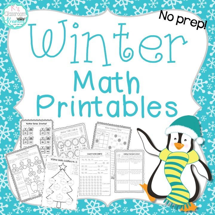 First Grade Winter Math Worksheets | Arctic animals, Maths and ...