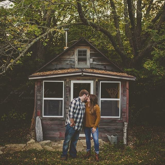 Great engagement session last night!  Can't wait for this South Dakota wedding next year! by twigandolive
