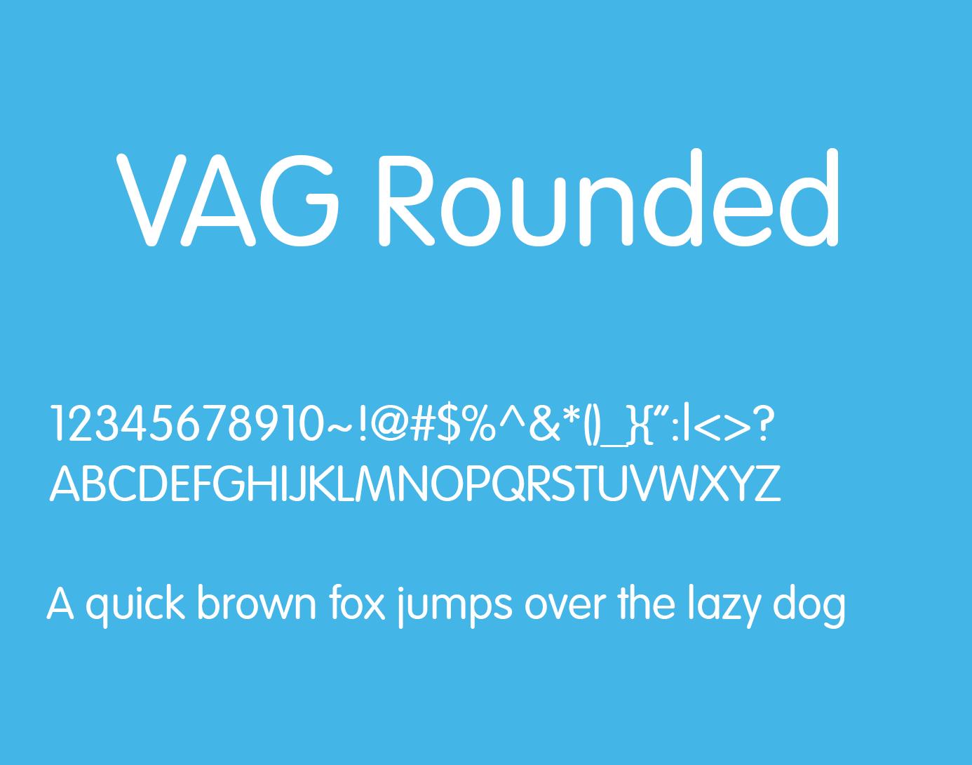 VAG Rounded Font Free Download - Free Fonts | Sans Serif Fonts