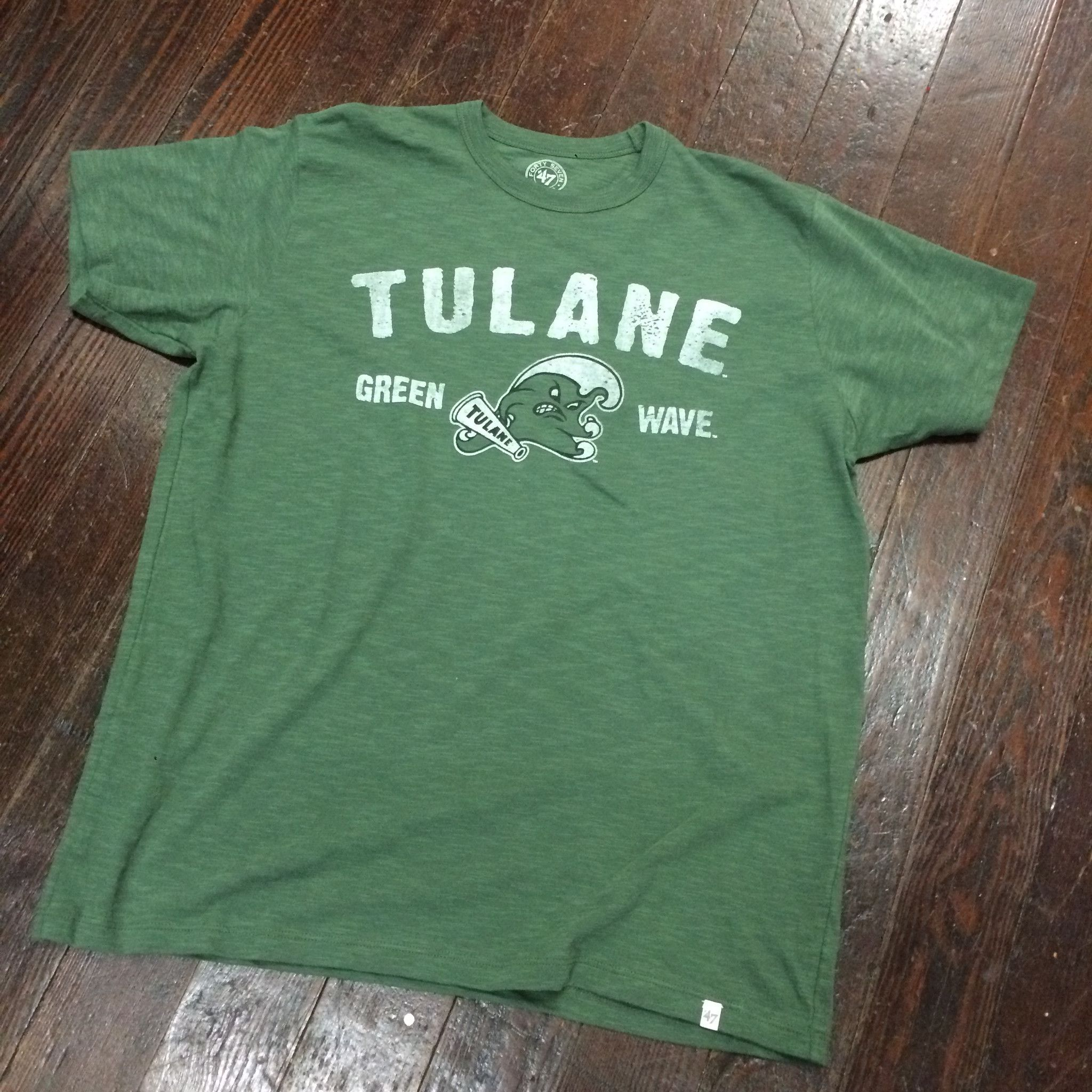Home college tulane green wave tulane green wave silver plated - Tulane Gumby Green Wave Scrum Tee