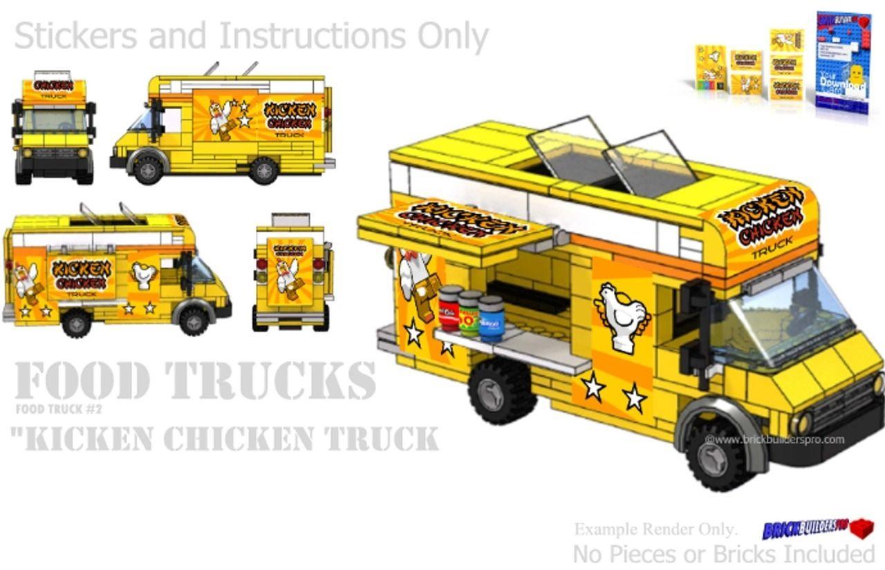 Kicken Chicken Food Truck Instructions And Sticker Pack Legos