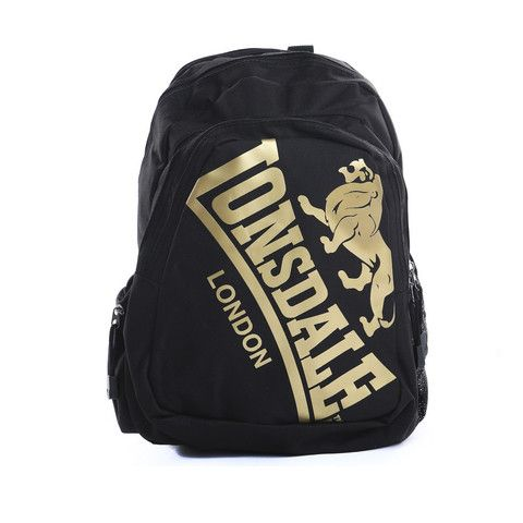 8a7cb5eac13f Lonsdale Oakdale Backpack - Black   Gold  lonsdale  backpack