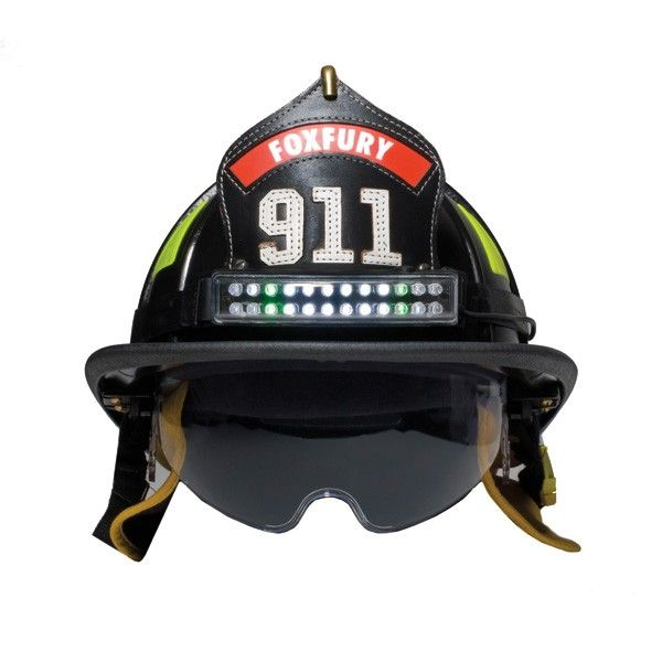 Fox Fury Performance Fire Helmet Light, Quick Tilt With White & Green LED'S 400-006