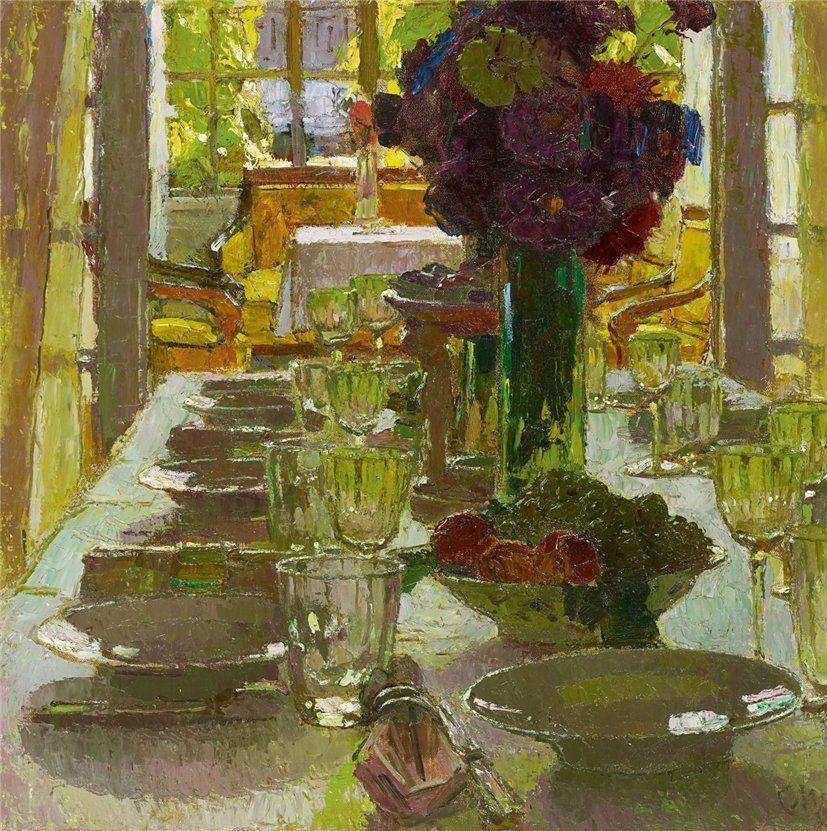 Dining Room (Carl Julius Rudolf Moll 1915) Art, Art
