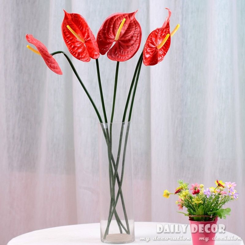 Cheap Flower Fairy Tea Party Buy Quality Flower Decoration For Cake Directly From China Flower Vine Su Flower Decorations Indoor Green Plants Anthurium Flower