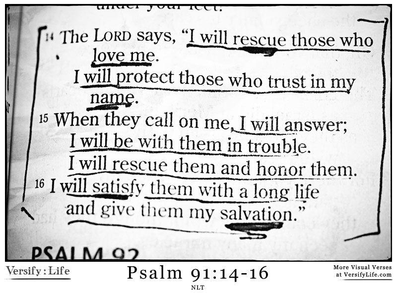 Psalm 91:14-16❤️